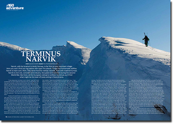 Skiing in Narvik, Adventure Magazine.