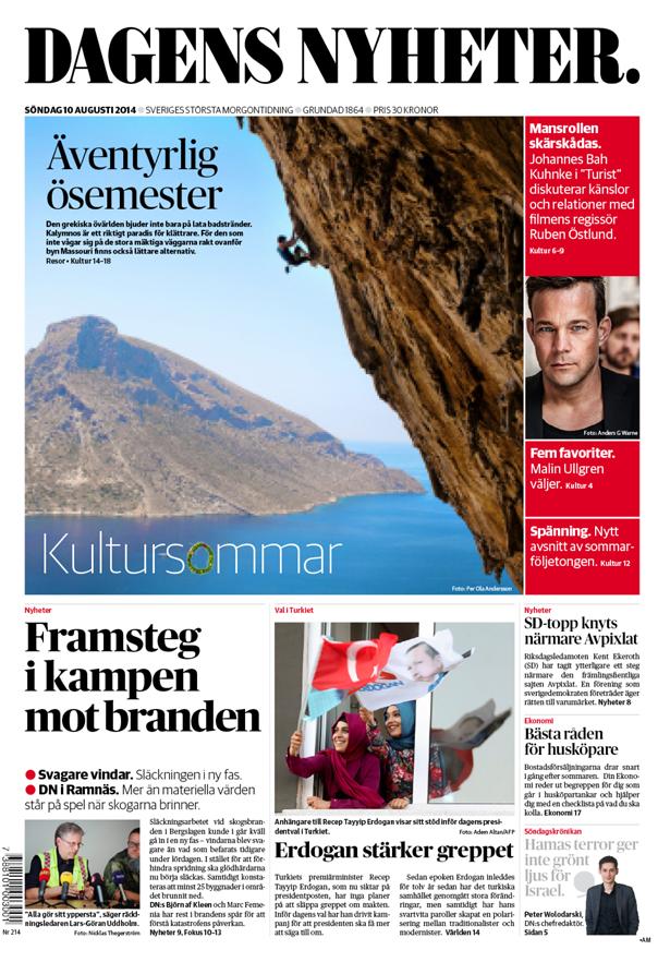 Cover on Dagens Nyheter